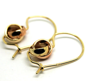 KAEDESIGNS NEW  9CT 8mm YELLOW & ROSE GOLD BELCHER SPINNING EARRINGS