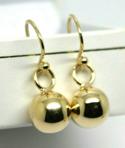 Kaedesigns New 9ct Yellow, Rose or White Gold 10mm Euro Ball Drop Earrings