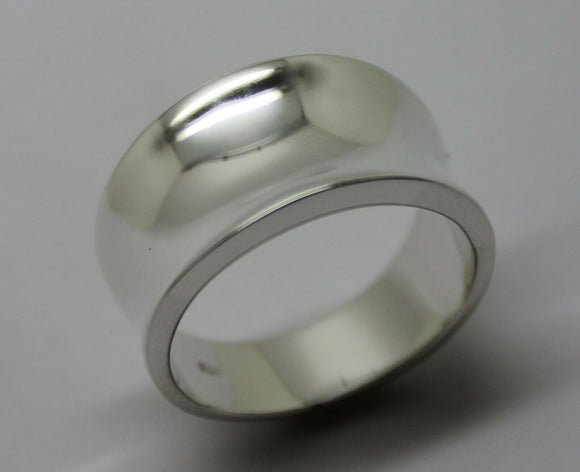 KAEDESIGNS, NEW GENUINE FULL SOLID STERLING SILVER CONCAVE DOME RING 250