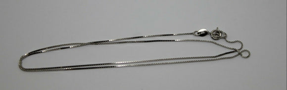 DELICATE STERLING SILVER BOX CHAIN 1.19grams 42cm *FREE EXPRESS POST IN OZ