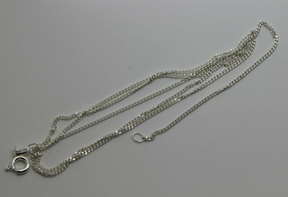 925 STERLING SILVER KERB CURB LINK CHAIN 2.4 grams 45cm *FREE EXPRESS POST IN OZ