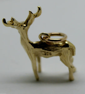 KAEDESIGNS, 3D 9ct Yellow or Rose or White Gold DEER OR MOOSE CHARM OR PENDANT
