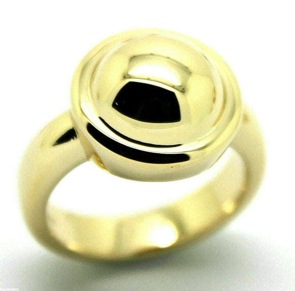 Size N1/2 Genuine Solid 9ct Yellow Gold Heavy Half Ball Ring  *Free Express Post In Oz