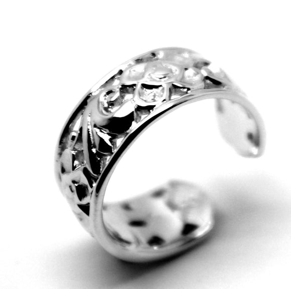 Kaedesigns, Genuine New Solid Filigree Heavy Sterling Silver 925 Toe Ring
