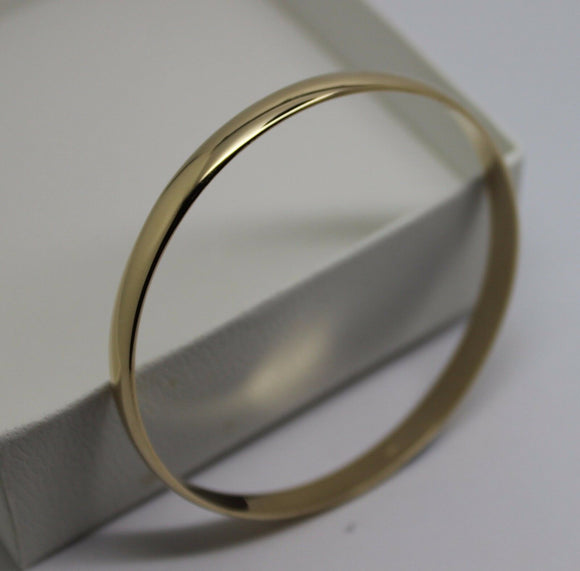 9ct 9kt FULL SOLID Heavy Yellow gold 5mm wide half round 57mm inside diameter