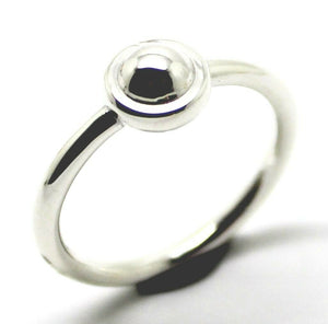 KAEDESIGNS NEW  SOLID GENUINE 925 STERLING SILVER 4MM HALF BALL RING
