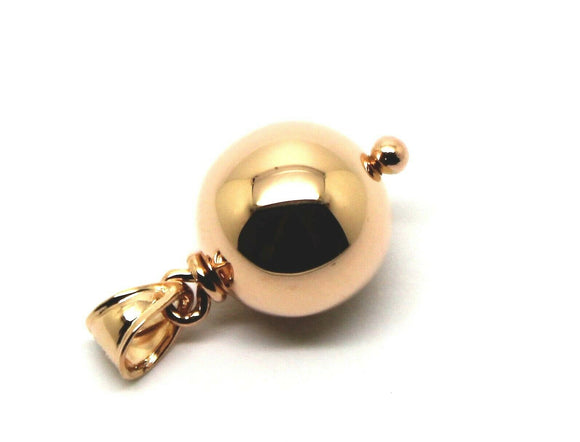NEW 12MM 9ct ROSE GOLD BALL DROP PENDANT *FREE EXPRESS POST IN OZ