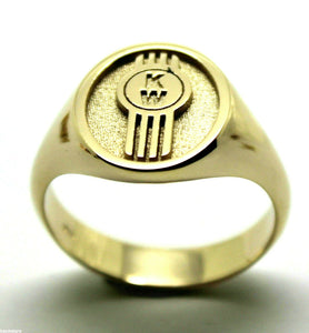 KAEDESIGNS, NEW GENUINE NEW 9CT 9KT SOLID HEAVY GOLD CUSTOM MADE ID INITIAL RING