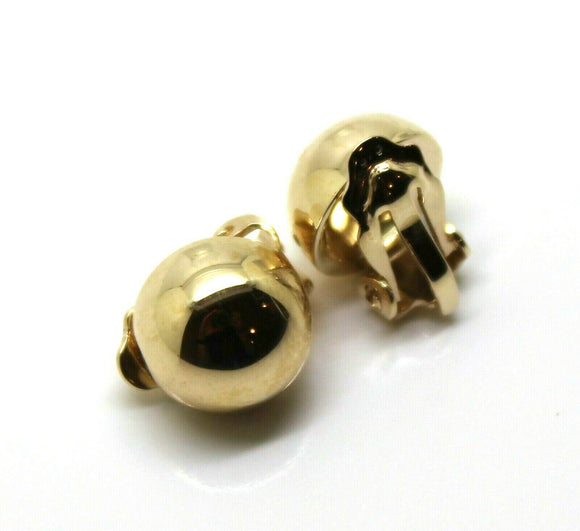 Kaedesigns New 9ct Yellow, Rose Or White Gold Clip On 10Mm Half Ball Earrings