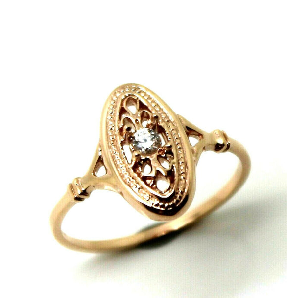 9CT ROSE GOLD DELICATE WHITE SAPPHIRE FILIGREE RING