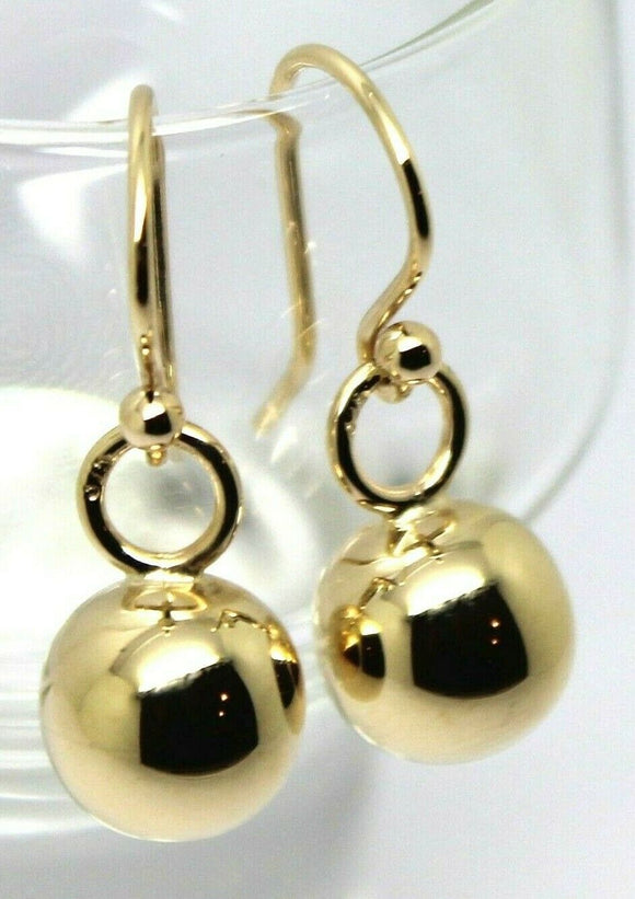 Kaedesigns New 9CT YELLOW GOLD 10MM EURO BALL DROP EARRINGS