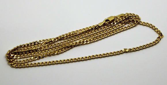 9ct Yellow Gold Kerb Curb Chain Necklace 55cm 7.84gms *Free Express Post In Oz