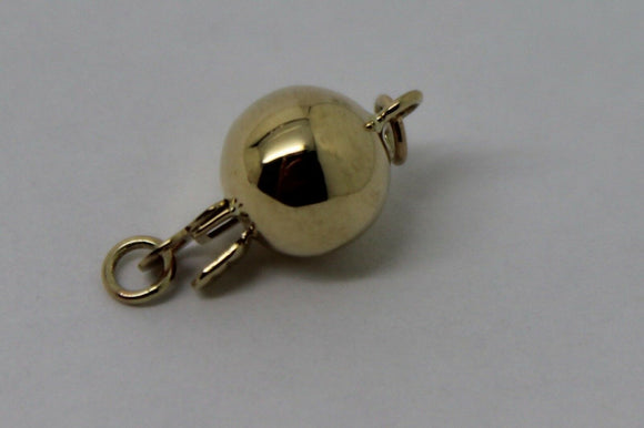 GENUINE 9ct Yellow gold 7mm plain ball Pearl Clasp * FREE EXPRESS POST IN OZ