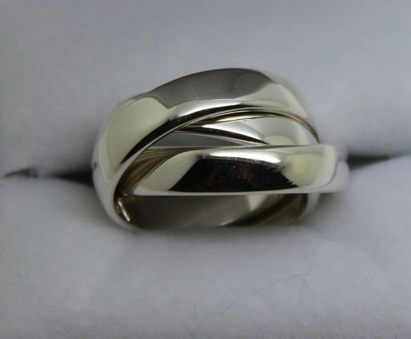 Kaedesigns New Sterling Silver Heavy Ring Size O 1/2 Russian Wedding Band