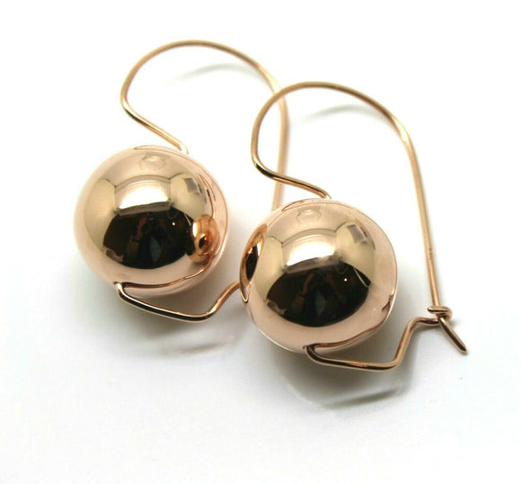 Kaedesigns New LARGE 9CT ROSE GOLD 18mm BALL EARRINGS