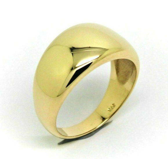 New Genuine Solid 9ct White Or Rose Or Yellow Gold High 10mm Dome Ring Your Size