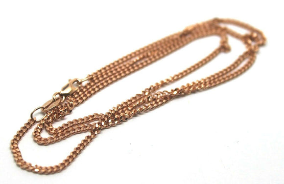9ct Rose Gold Kerb Curb Chain Necklace 45cm 7.53grams *Free Express Post In Oz*