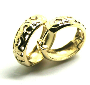 Kaedesigns New Genuine 9ct Solid Yellow Gold Hoop Filigree Huggies Earrings