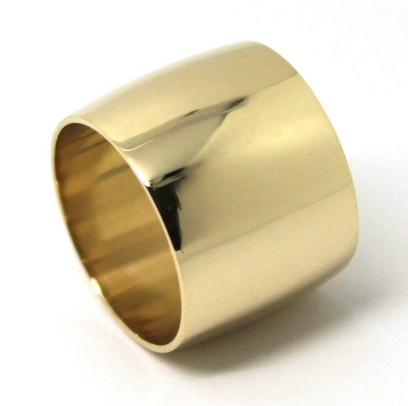 Size M / 6  Huge Genuine 9K 9ct Yellow, Rose or White Gold Full Solid 16mm Extra Wide Band Ring