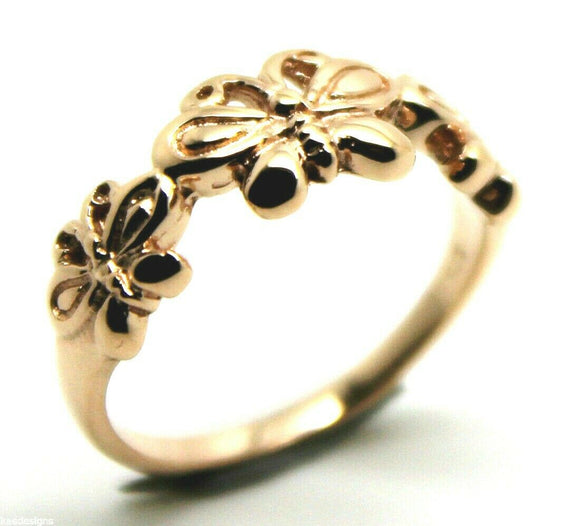 GENUINE SOLID 9CT WHITE OR ROSE OR YELLOW GOLD BUTTERFLY RING 282 Choose size