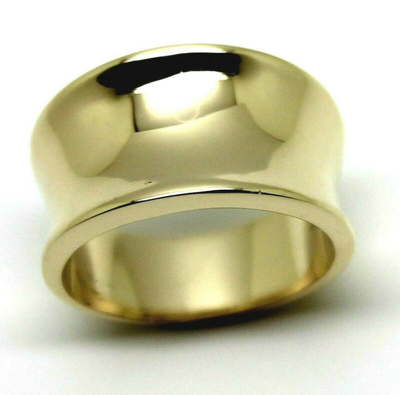 Kaedesigns, New Genuine Full Solid 9ct 9kt Yellow, Rose or White Gold Concave Dome Ring 250
