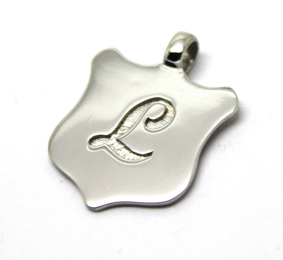 Kaedesigns, New Genuine 9K 9ct Yellow, Rose or White Gold Shield Pendant With Your Initial