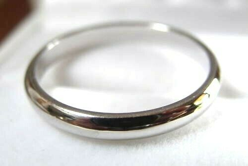 NEW GENUINE 14ct WHITE GOLD FULL SOLID 3mm WEDDING RING