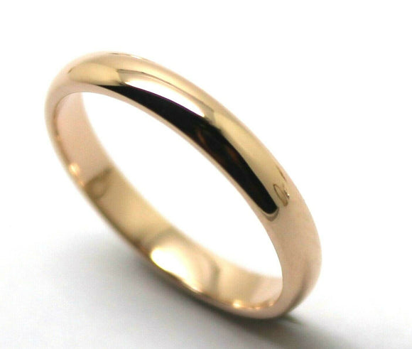 Genuine Custom Made Solid 18ct 18kt Rose Gold 4mm Wedding Band