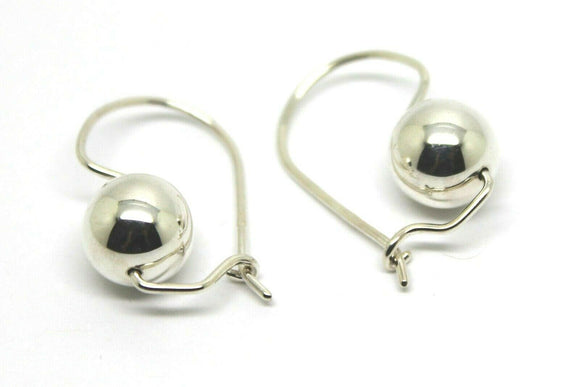 Genuine Sterling Silver 10mm Wide Ball Hook Earrings - Free express post in oz