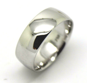 Size L Genuine 18ct Hallmarked 750 Heavy White Gold Full Solid 6mm Wedding Band