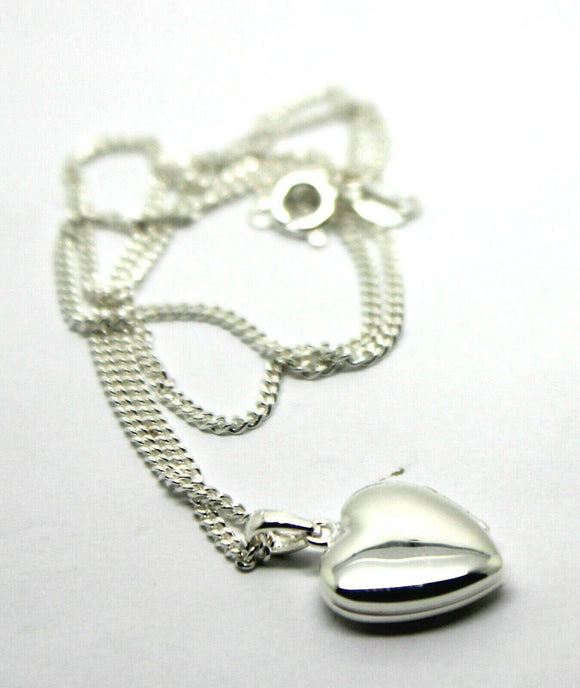 Sterling Silver Heart Locket Pendant 2 Photos & Silver Chain *Free Express Post