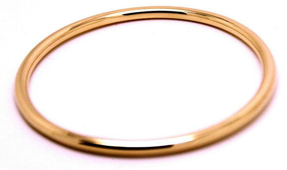 Kaedesigns New Genuine 9ct Full Solid Rose Gold 4Mm Wide Golf Bangle 65Mm