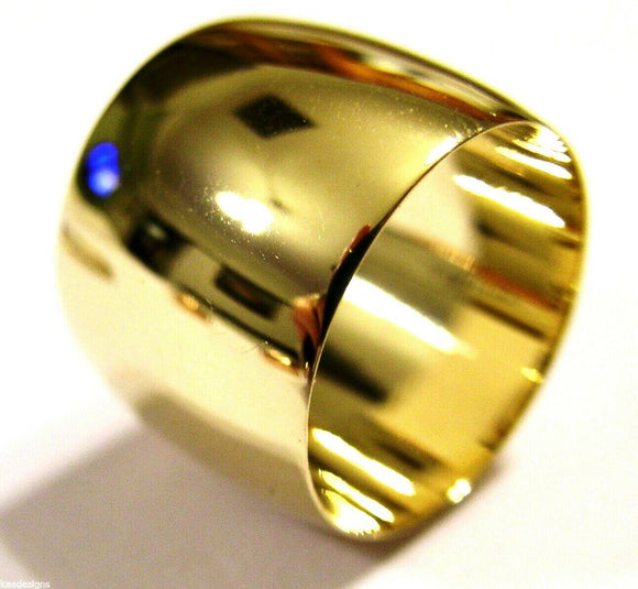 Size S1/2 9K 9ct Yellow Or Rose Or White Gold Solid 15mm Extra Wide Band Ring