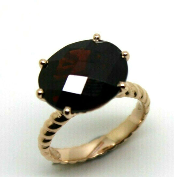 Checker Board Pyrope Garnet Oval 9ct rose gold dress rope ring 7.9ct