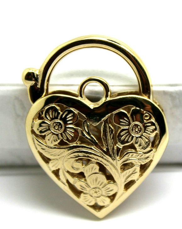 NEW 9ct Yellow Gold or White Gold or Rose Gold Heavy Large Heart Locket Padlock