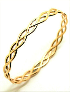 Kaedesigns Full Solid Genuine 375 9ct 9kt YELLOW gold CELTIC KNOT OVAL BANGLE