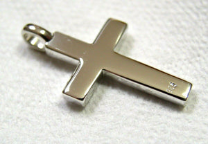 Kaedesigns Full Solid New Sterling Silver 925 Plain Cross Pendant