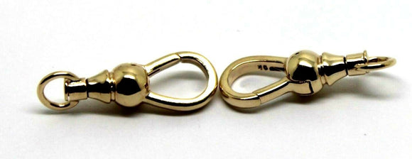 9ct 2 X  Yellow Gold Ball Albert Swivel Clasp 19mm Size *Free Express Post In Oz