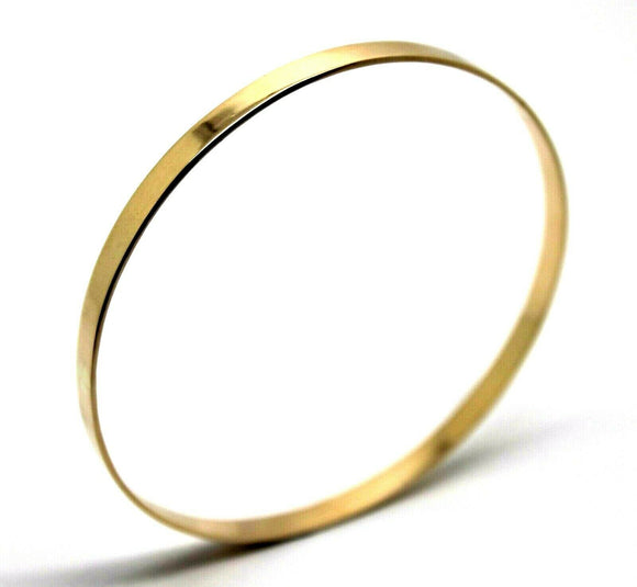 Kaedesigns New FULL Solid 9ct yellow gold 4mm wide Flat bangle 65mm