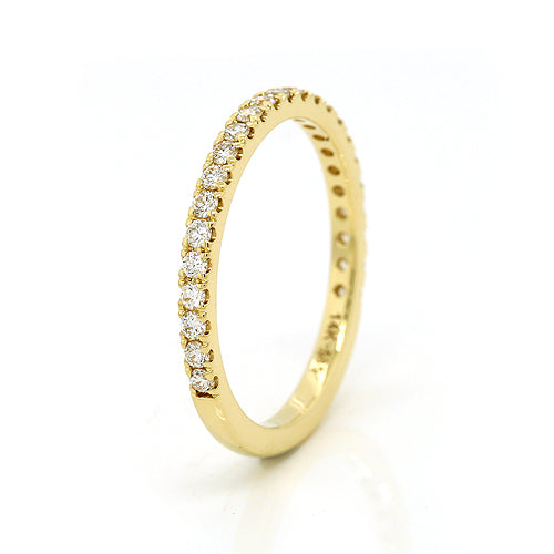 Genuine 14K 14ct yellow Gold Diamond SI / G Eternity Ring band 0.336cts