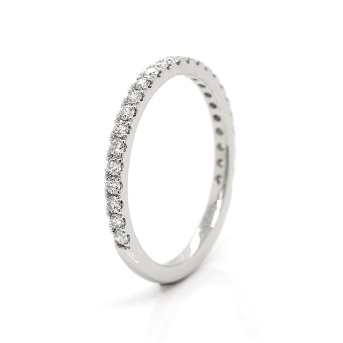 Genuine 0.338cts SIze L1/2 Platinum 950 S1 G Diamond Eternity Ring band