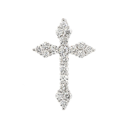 0.575cts New Genuine 18ct White Gold Diamond Cross Pendant Size: 21.5 X 15mm