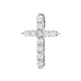 0.416Cts New Genuine 18ct White Gold Diamond Cross Pendant