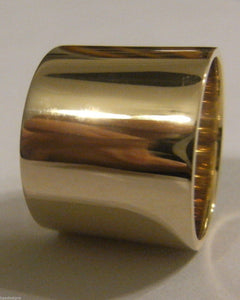 Kaedesigns, Genuine Solid 9t Yellow Gold / 375 Full 16mm Extra Wide Band Ring