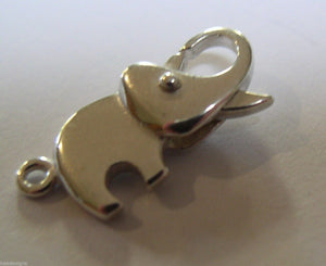 Sterling Silver Plain Elephant parrot / lobster clasp Clasp *Free express post