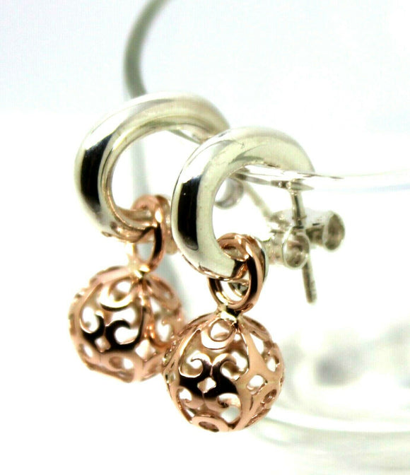Kaedesigns New 9ct Rose Gold Filigree Balls & Sterling Silver Stud Earrings
