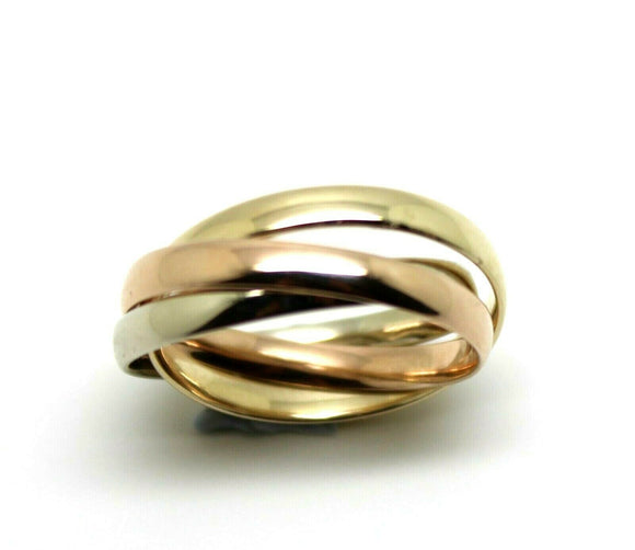 Size Q Genuine Solid 3mm 9ct Yellow, White, Rose Gold Russian Wedding Ring Bands