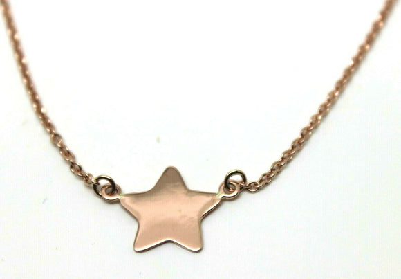 Genuine New 52cm 9ct Rose Gold Belcher Chain Necklace With Star