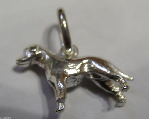 Genuine New Sterling Silver Solid Dog Pendant Or Charm *Free Post In Oz