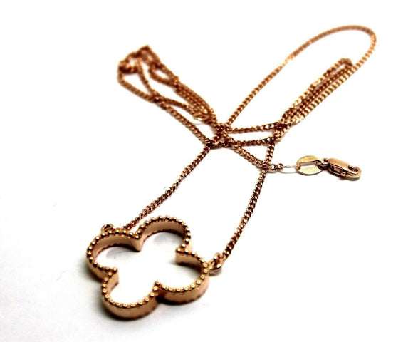 Kaedesigns New Genuine 9ct Rose Gold Four Leaf Clover Pendant + Chain